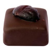 Ganache complexe et pâte de fruits noir Enrobage noir