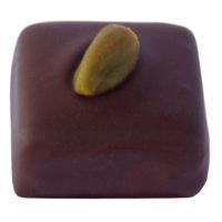 Pâte d'amande pistache Enrobage noir