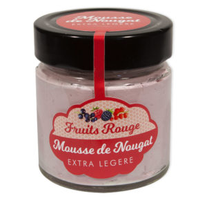 Mousse de Nougat gout Fruits Rouge