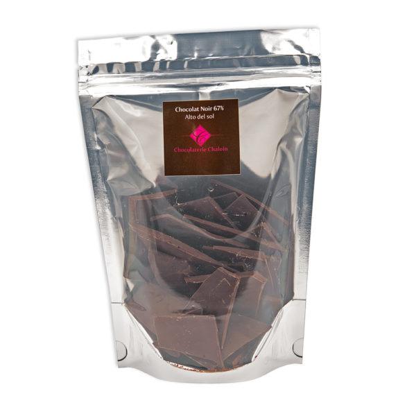 Sachet Alto Del Sol Noir 67% en sachet de 200gr