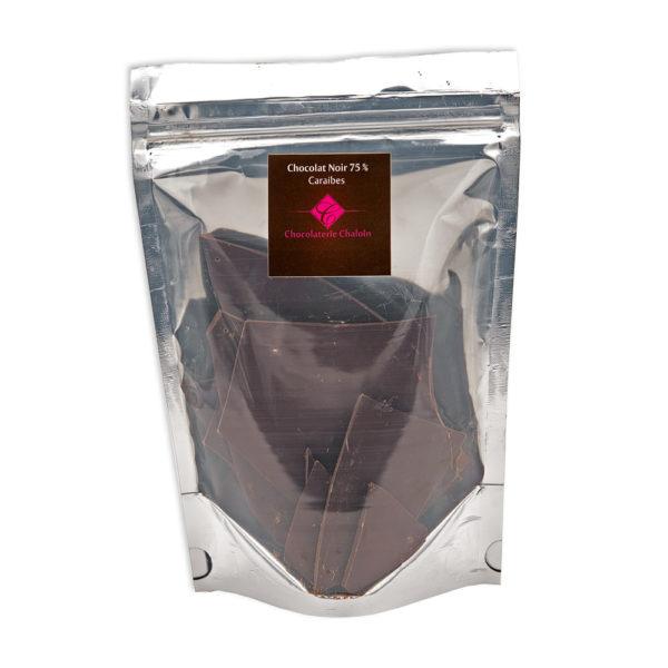 Sachet Caraibes Noir 75% de 200gr